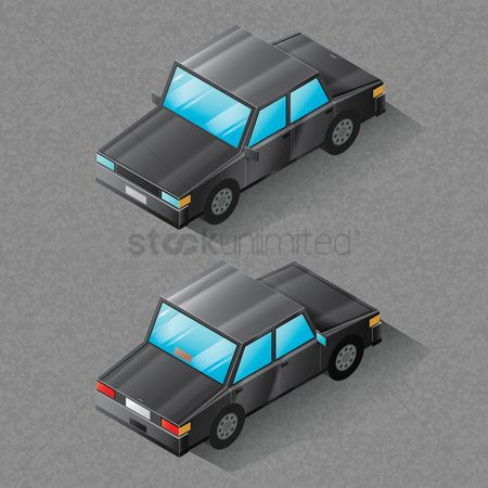 Dimensional : Isometric car