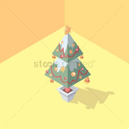 Jingle bells : Isometric christmas tree
