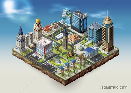 Hospital : Isometric city