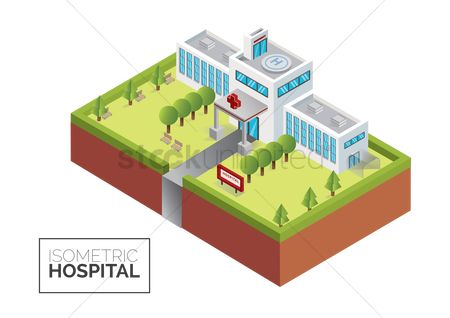 Pad : Isometric hospital