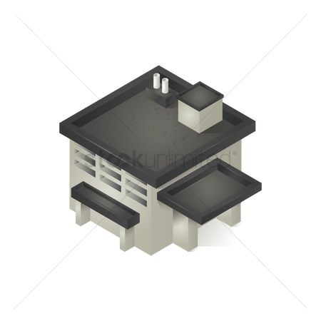 Chimneys : Isometric house building