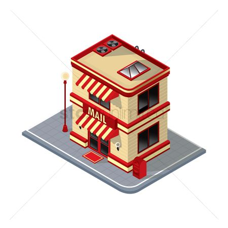 Awning : Isometric mail building