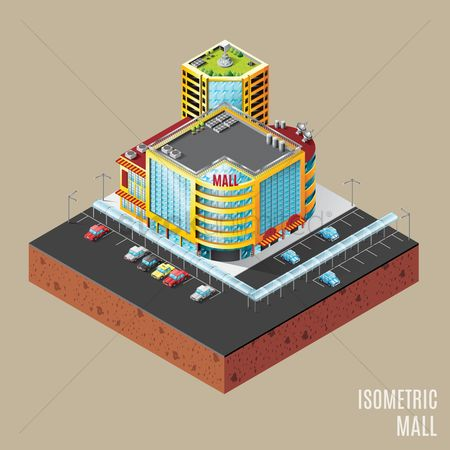 Awning : Isometric mall