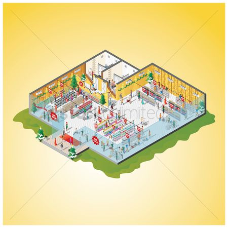 Racks : Isometric of a shopping mall