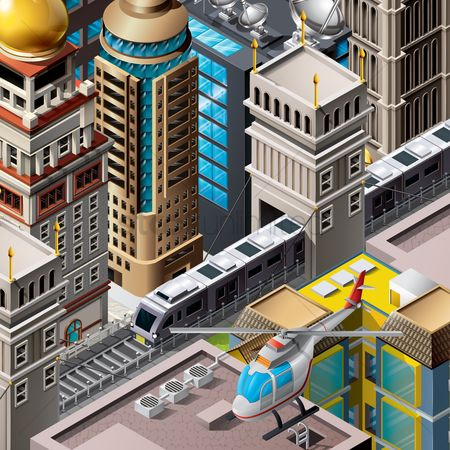 Dimensional : Isometric of city life