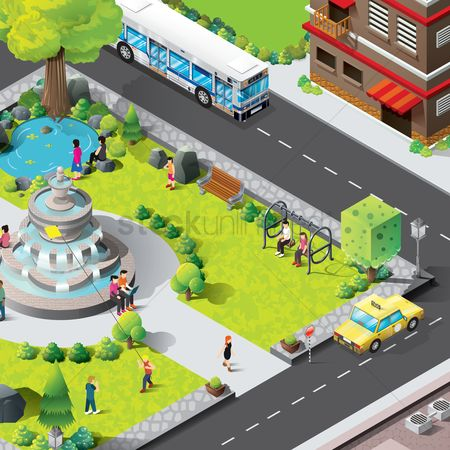 Car : Isometric park