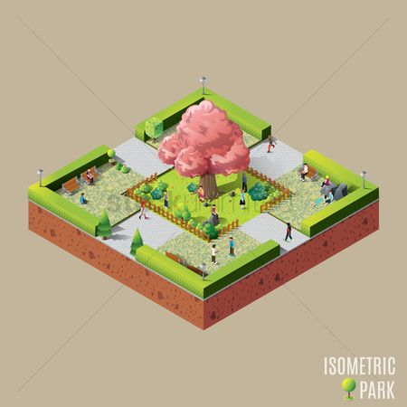 Relaxing : Isometric park