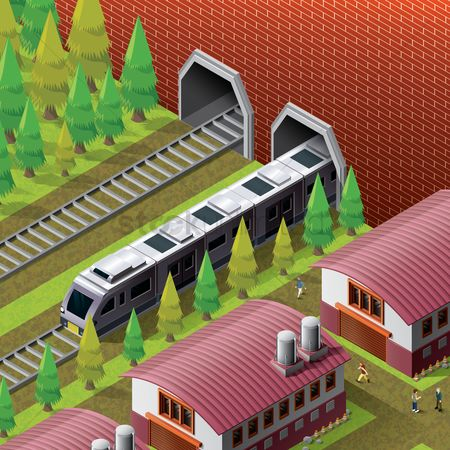 Lady : Isometric railway station