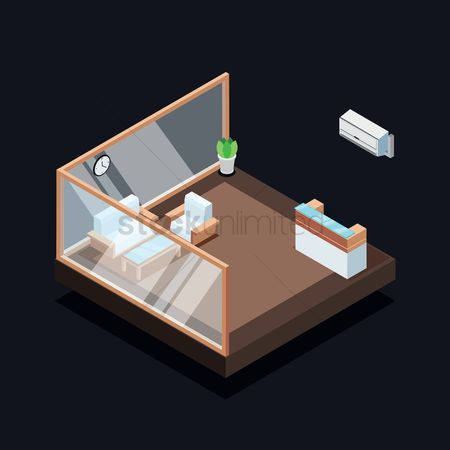 Vectors : Isometric reception