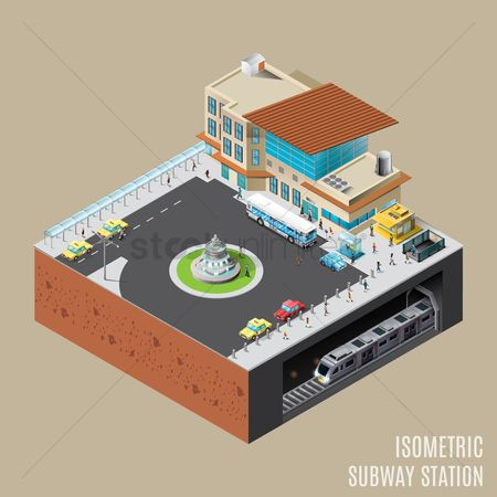 Taxis : Isometric subway station
