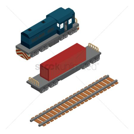 Container : Isometric train