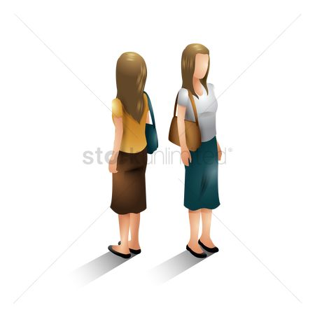 Backview : Isometric women