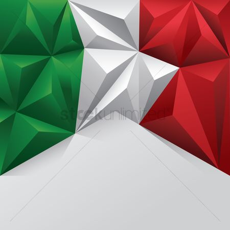 Tricolored : Italian flag template