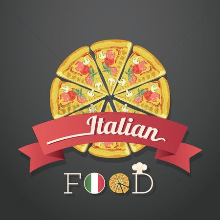 Pizzas : Italian food labels