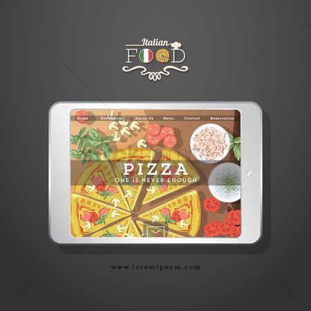 Pizzas : Italian food
