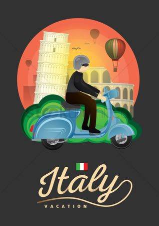 Pisa : Italy vacation poster