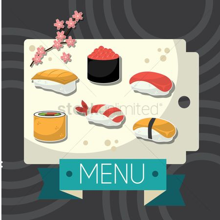 Japanese cuisines : Japanese menu design