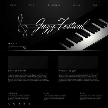 Us : Jazz festival web page