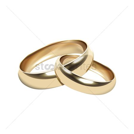 Engagements : Joined golden rings