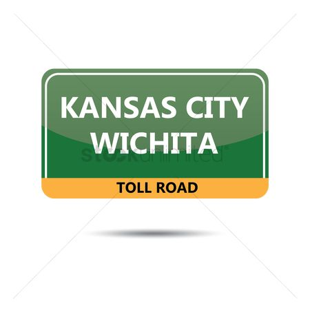 Kansas : Kansas city road sign