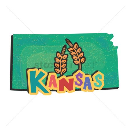 Production : Kansas state map