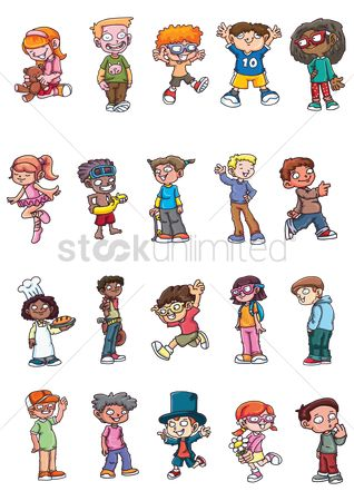 Cartoon : Kids character collection