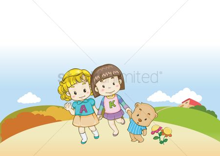 Teddybears : Kids with teddy bear