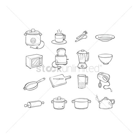 Coffee cups : Kitchen icons pack