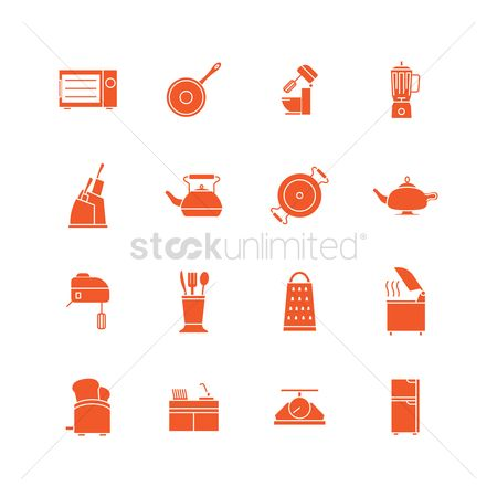 Huge : Kitchen tool icons