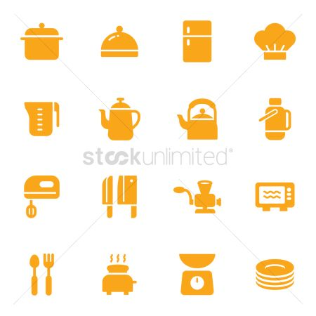 Cook : Kitchen tool icons