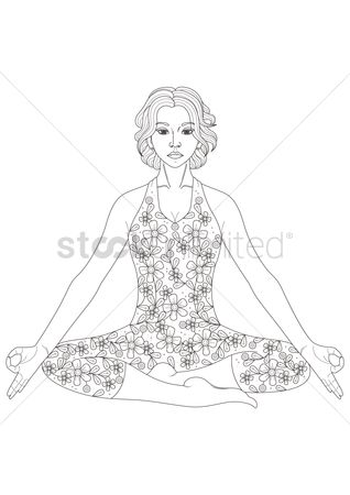 Lifestyle : Lady doing yoga