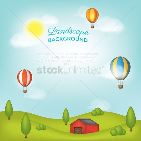 Agriculture : Landscape background