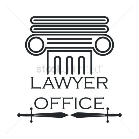 Office  building : Lawyer office logo element