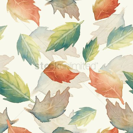 Patterns : Leaves background