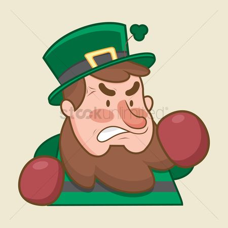 Boxing glove : Leprechaun feeling angry