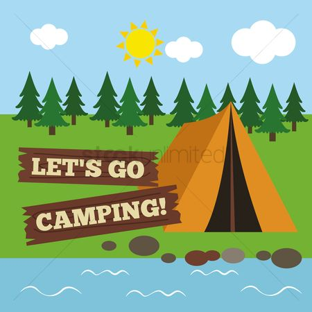 Tents : Let s go camping poster