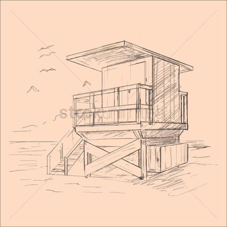 Summer : Lifeguard house