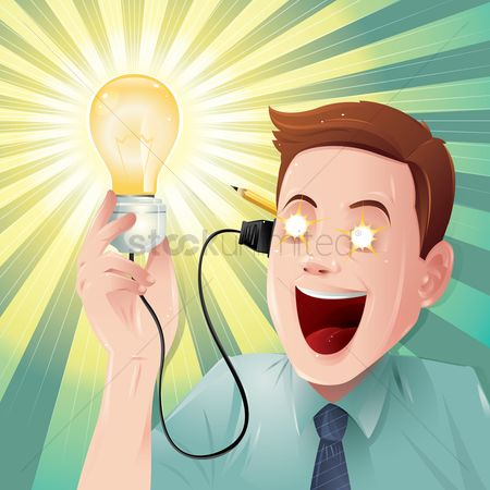 Smart : Lightbulb moment concept