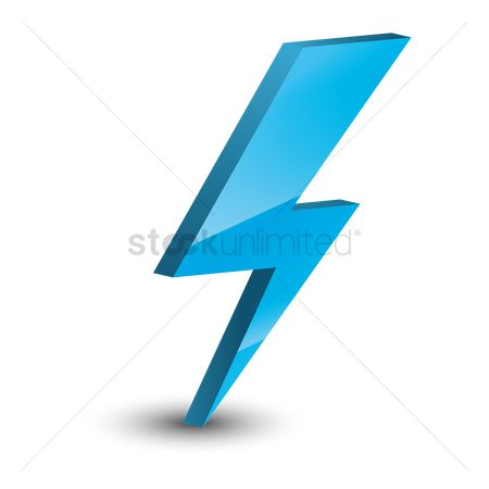 Electricity : Lightning bolt icon