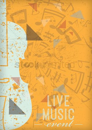 Melody : Live music poster design