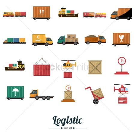 Boxes : Logistic icons