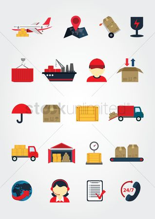 Map pointer : Logistic icons