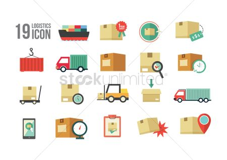 Pad : Logistics delivery icons