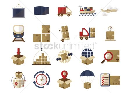 Container : Logistics icons