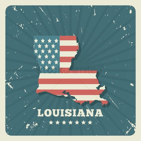 Oldfashioned : Louisiana map
