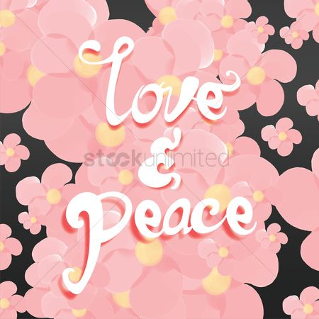 Compassion : Love and peace typography design