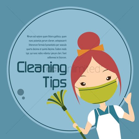 Cleaner : Maid giving cleaning tips