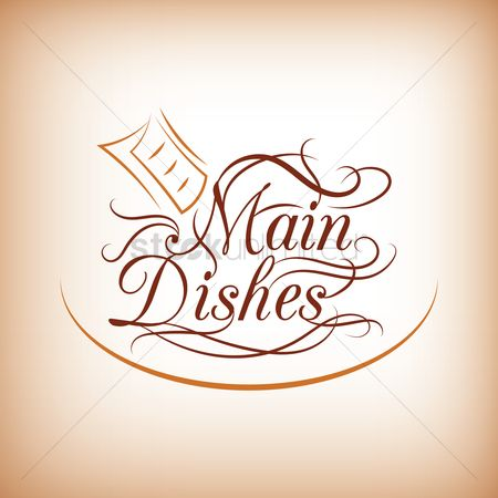 Main : Main dishes menu title