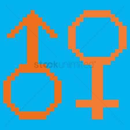 Background : Male and female symbol
