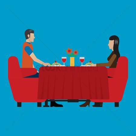 Dine : Man and woman dining together